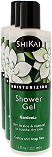 Shikai - Daily Moisturizing Shower Gel, Rich in Aloe Vera & Oatmeal That Leaves Skin Noticeably Softer & Healthier, Relief For Dry Skin, Gentle Soap-Free Formula (Gardenia, 12 Ounces, Pack of 3)