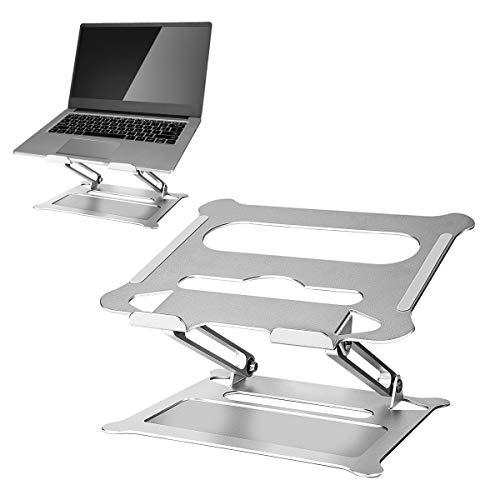 Laelr Laptopständer, Tragbarer Reise-Notebook-Ständer Faltbarer Laptop-Riser-Ständer mit Wärmeentlüftung, Verstellbarer Tablet-Desktop-Halter für Laptop MacBook Pro/Air, Lenovo, Samsung (11-17 Zoll)