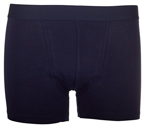 Bread and Boxers Men's Classic Stretchy Cotton Boxer Brief Underwear, Dark Navy, X-Large