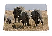 26cmx21cm マウスパッド (象は草を歩く) パターンカスタムの マウスパッド
