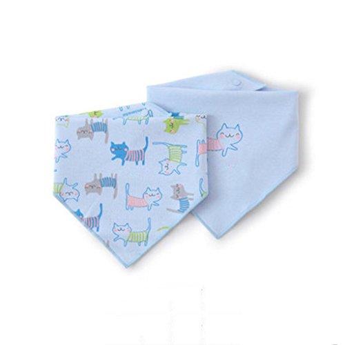 MXJ61 Triangle Serviette Coton Nouveau-Né Bavoirs Four Seasons Mâle Et Femelle Bébé 2 Pcs/Set (Couleur : Bleu, Taille : 1 Set)