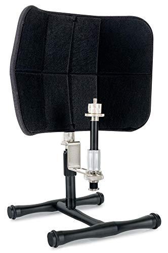 Pronomic MP-50 Desktop Micscreen - Portabler Mikrofon Absorber mit Tisch Mikrofonständer - Akustik Schirm Ideal für Studio oder Podcasting - Schallschutz - Diffusor mit Akustik Schaum - Schwarz