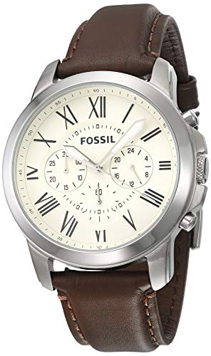 Fossil Grant - FS4735IE Eggshell/Brown One Size