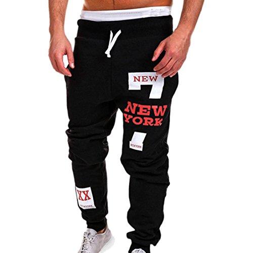Paolian Pantalon de survêtement en Coton Grand Format pour Homme, Cordon de Serrage en Tissu Confortable avec Un Pantalon décontracté (M, Rouge)