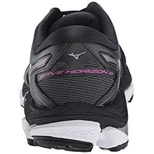 Mizuno Women's Wave Horizon 3 Running Shoe, Black-Metallic Shadow, 7.5 B US