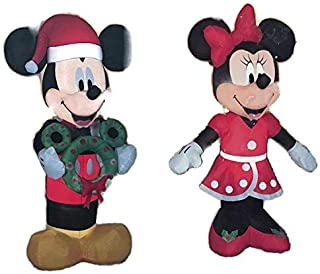 Mickey and Minnie Mouse Christmas Outdoor Inflatable Yard Decorations