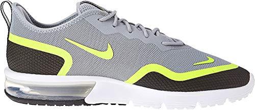 Nike Herren Air Max Sequent 4.5 Se Leichtathletikschuhe, Mehrfarbig (Black/Volt/White 000), 43 EU