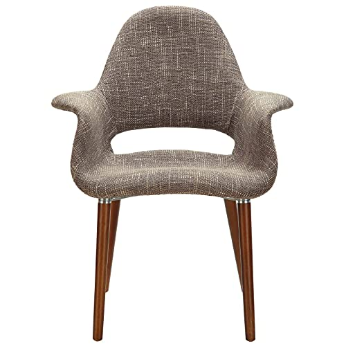 Modway Aegis Mid-Century Modern Upholstered Fabric Dining Ch...