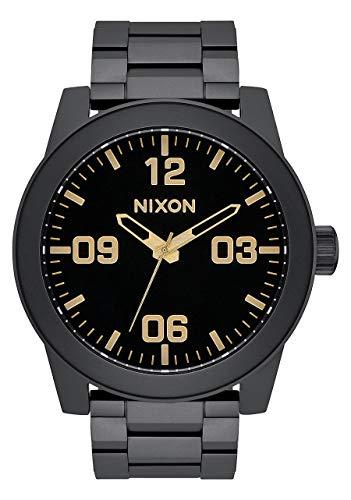 Nixon Armbanduhr Corporal Edelstahl Matte Black / Gold