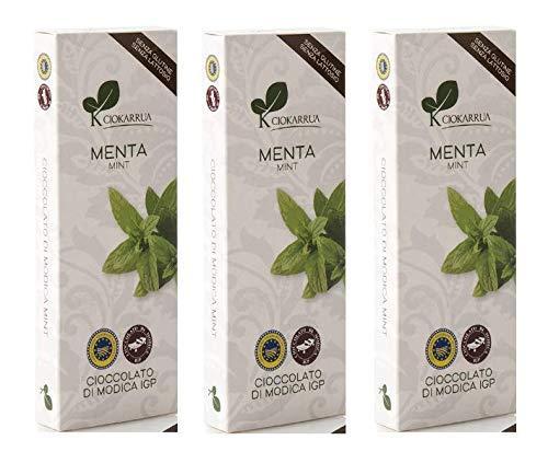 Ciokarrua Cioccolato Menta di Modica / Mint Chocolate - 3 x 100 Grammi