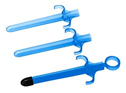 Lubricant launcher in blue color.