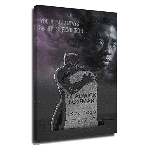 Poster su tela con immagini di drago di Chadwick Boseman, stampa 3D, per soggiorno, super eroe, pantera nera, rip re omaggio, super eroe, wakanda, Avengers Infinity War, 40,6 x 61 cm