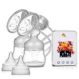 Bilaterale elektrische Milchpumpe/wieder aufladbare Melkmaschine/mütterliche Milchpumpe/große Milchpumpe mit Saugfunktion/Funktionsflasche