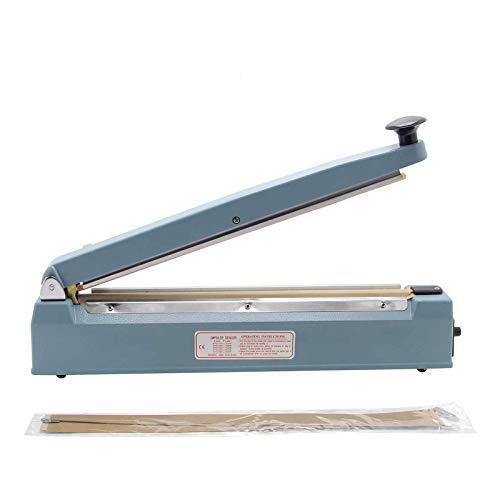 Hanchen Termosigillatrice per Sacchetti con Taglierina 300mm Sigillatrice a Caldo con Lama Commerciale 400W per POF/PVC/Carta Kraft
