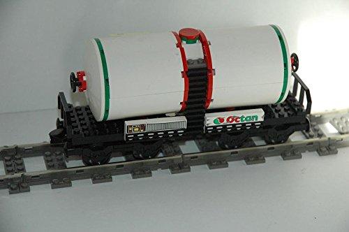 Gebrauchte Bausteine Ersatz für Lego System Lego 9V + RC Eisenbahn Train 10016 Waggon Kesselwaggon Octan Wagon CAR KOMPATIBEL MIT Lego 9V + RC System