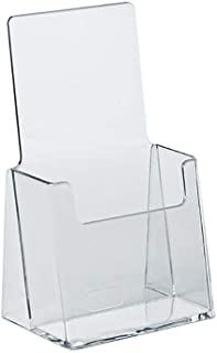 Azar Displays Azar 252012 Clear Acrylic Trifold Literature Brochure Holder For Counter | Perfect For Pamphlets | Brochures | Menus | Promotions | Literature | Made In USA |, 25Pk, 25pk
