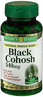 Nature's Bounty Black Cohosh 540mg - 100 Capsules, Pack of 5