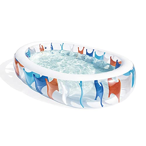 BAHAOMI Piscina Hinchable,229 X 152 X 51 Cm Piscina Inflable Familiar Grande Centro Piscina Familiar Piscina Inflable para Niños Fiesta Acuática Piscina Rectangular,para Niños Y Adultos