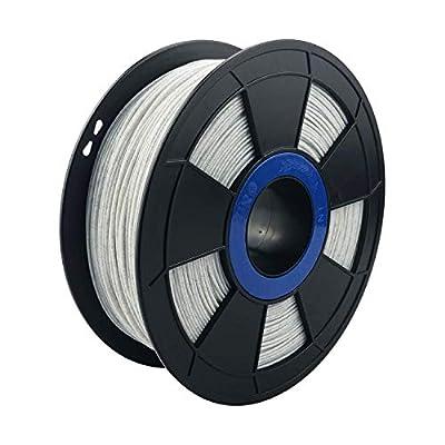 ZIRO 3D Printer Filament PLA 1.75mm Marble Color 1KG(2.2lbs) - White