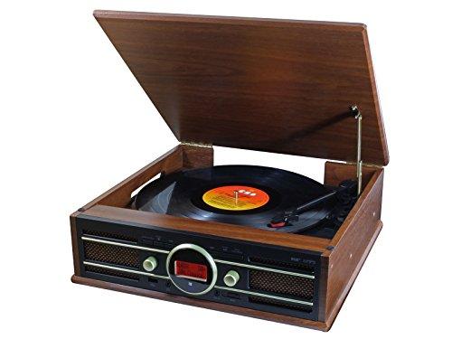 Soundmaster PL585BR Plattenspieler mit UKW und DAB Radio und Encodingfunktion