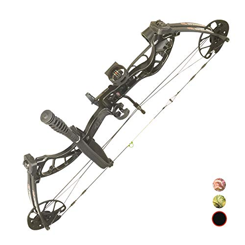 PSE ARCHERY Uprising Compound Bow Package for Adults, Kids & Beginners -Press Free Adjustment -Draw Range 14'-30'-Draw 15-80LB Pull -Up to 310 FPS
