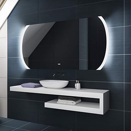 Badspiegel 80x60cm mit LED Beleuchtung - Wählen Sie Zubehör - Individuell Nach Maß - Beleuchtet Wandspiegel Lichtspiegel Badezimmerspiegel - LED Farbe zu Wählen Kaltweiß/Warmweiß L68