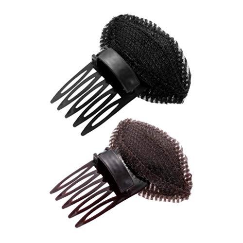 Puff Hair Head Cojín, 2 Piezas de Esponja de Espuma para Mujer,...