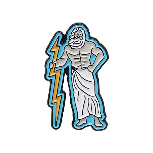 WizardPins Zeus Greek Mythology God of The Sky King of Gods Lightning Bolt Enamel Lapel Pin– 1 Pin
