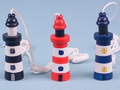SDL Seaside/Nautical Theme Wooden Lighthouse Cord Pull/Light Pull (15278) (Blue)