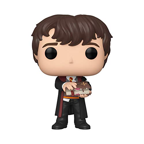 Funko- Pop Harry Potter-Neville w/Monster Book Figura Coleccionable, Multicolor, Estándar (48068)