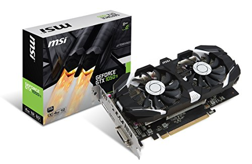 MSI NVIDIA GEFORCE GTX 1050Ti 4GT OC Graphics Card '4GB GDDR5, 1455MHz, DisplayPort, HDMI, DVI-D, Dual Fan Cooling System'