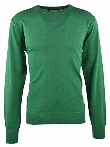 Breidhof Rundhals Pullover grün, Größe:56
