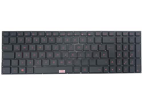 Deutsche Tastatur - mit Bleuchtung, ohne Rahmen - für Asus ROG Strix GL702VS, ROG Strix GL702VM,