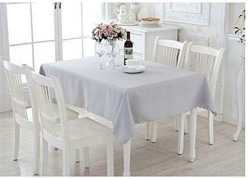 La Mode Rechteckige Stofftischdecke abwaschbar Tischdecke für Konferenztisch Couchtisch Restaurant Grau, 150x300cm