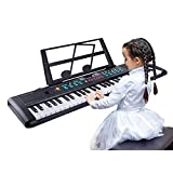 TWFRIC Kids Keyboard Piano 61 Keys Music Piano for Kids Electronic Piano Keyboard with Microphone for 3-10 Years Old Girls Boys Beginners