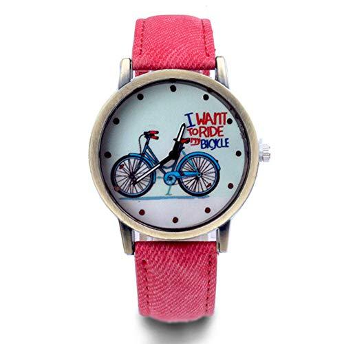 Reloj de pulsera analógico de cuarzo con batería, color albaricoque