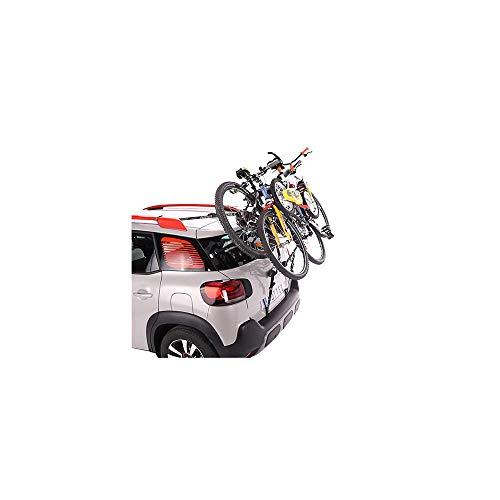 Mottez A016P3 Porte-Vélos sur Hayon à Fixation sur Barres de Toit Ou Barre Railing 3 Vélos avec Antivol