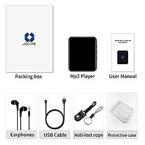 """MP3 Player, 16GB Bluetooth 5.0 MP3 Player mit 1.8"""" Touchscreen, HiFi Verlustfreier Ton Musik Player mit Lautsprecher, FM Radio, E-Book, Video Player, Schrittzähler, Speichererweiterbar bis zu 128 GB"""