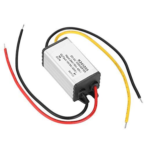 24V zu 12V DC Wandler 5A 60W Step Down Netzteil Adapter Transformator Reduzierregler, Spannungswechsler für PKW LKW Boot Solar System