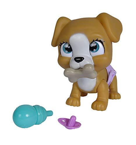 Simba 105953050 Pamper Petz Hund, Tierbaby mit Trink und Nässfunktion, mit magischer Pfote, mit Überraschung, ab 3 Jahren, 15cm