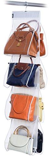 Domopak Living 908045 Portée Sacs aux 8 Compartiments, Plastique, Blanc, 1 x 33 x 120 cm