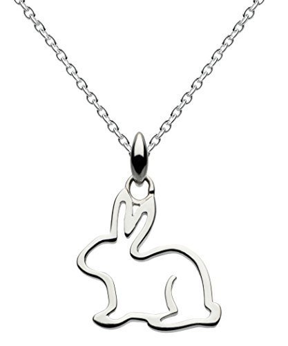 Dew Sterling Silver Bunny Necklace of Length 18 inch on 45.7 cm Chain