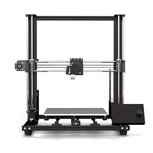 H&1 Aluminium Bricolage Imprimante 3D, avec Le Panneau Mobile Magnétique Et La Plate-Forme De Chauffage, L'axe Z Et L'axe Y Conception À Double Faisceau, Formant Le Volume 300 * 300 * 350 Mm