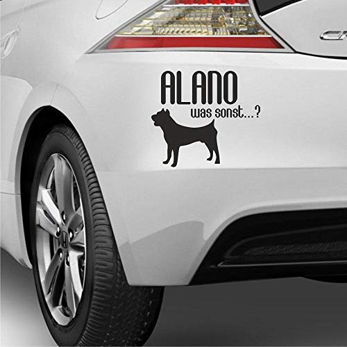 myrockshirt Alano was sonst?! ca 25cm Hunderassen Hundeliebe Doglover Aufkleber Sticker Hund Hunde