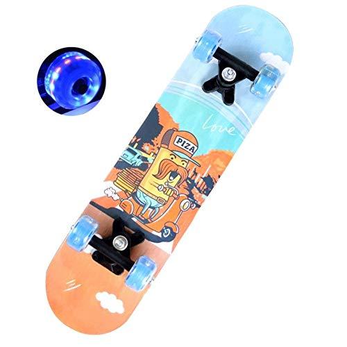 Love your life Complete Skateboard Mini Cruiser 23 Zoll Pictures of Minions Fahren Skateboard PU-Blitz-Rad