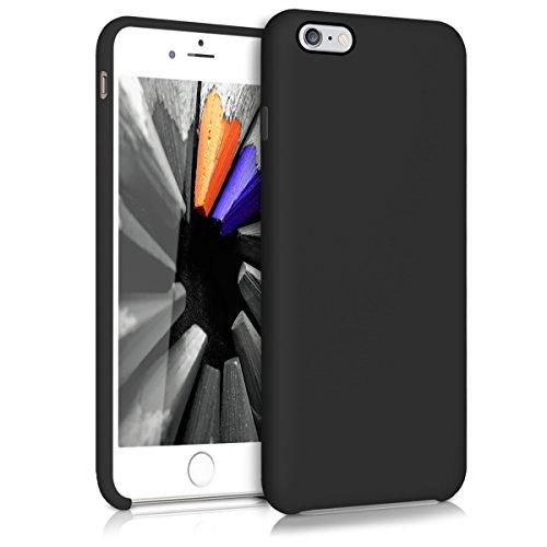 kwmobile Hülle kompatibel mit Apple iPhone 6 Plus / 6S Plus - Handyhülle gummiert - Handy Case in Schwarz