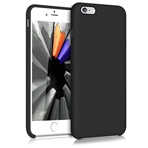 kwmobile Hülle kompatibel mit Apple iPhone 6 Plus / 6S Plus - Handyhülle gummiert - Handy Case in Schwarz