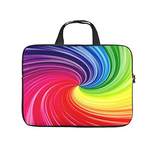 Colourful Spiral Circle Laptop Bag Shockproof Protective Case for Laptops Pattern Notebook Bag for University Work Business