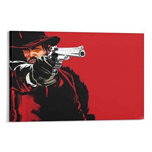 IVEVER Game Character Posters Arthur Morgan Canvas Art Poster and Wall Art Picture Print Modern Family Bedroom Decor Posters 08×12inch(20×30cm)