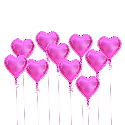 Hartvorm folie Mylar Balloons10pcs 18